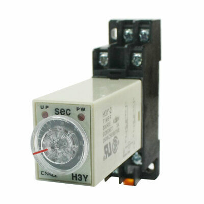 0-60 Seconds Delay Timer Time Timing Relay AC 110V H3Y-2 w Base socket