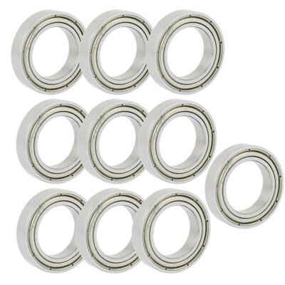 15mm x 24mm x 5mm Sealed Deep Groove Radial Ball Bearing 6802Z 10PCS