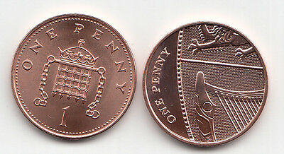 UK One Pence Coins 1p 1999 to 2017 Choose your Year - Brilliant Uncirculated