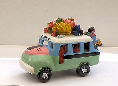 South American Ceramic Bus Ecuador Green/blue/pink Very Colourful