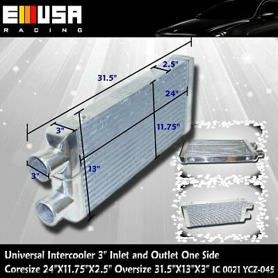 """Intercooler 31.5""""X13""""X3"""" 3"""" Inlet &Outlet  Same One Side YCZ-045"""
