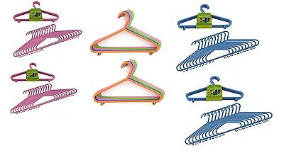 Kids Children Baby Multi-Colour Coat Hanger Space Saving Slim Coat Cloth Hangers