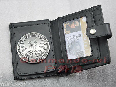 The Avengers Agents of S.H.I.E.L.D. Shield Copper Badge with Holders or Wallet