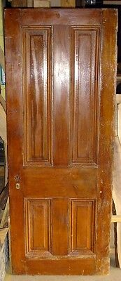 Salvage Vintage/antique 100+ Year Old Mortise And Tenon Pine Panel Door