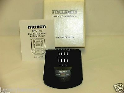 Maxon QPA-1125 Dual Slot / Dual Rate Desktop Smart Charger NEW Pocket Only