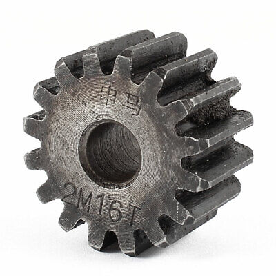 10mm x 35mm x 20mm Module 2 16 Teeth Metal Straight Spur Gear Wheel Gray
