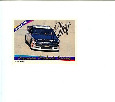 Rick Mast NASCAR Driver Legend 1994 Maxx Signed Autograph Photo Card