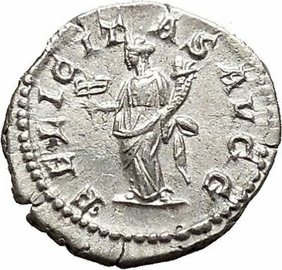 SEPTIMIUS SEVERUS 204AD Silver Rare Ancient Roman Coin Good luck Cult i40665