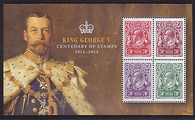 2014 King George V Centenary of Stamps - MUH Mini Sheet