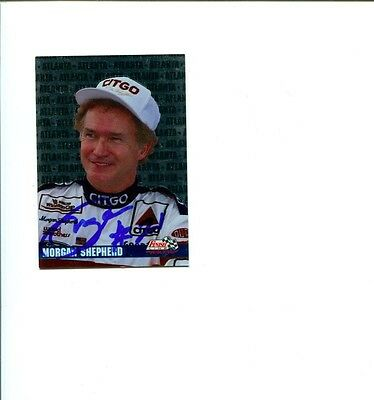 Morgan Shepherd NASCAR Driver Champ 1994 Finish Line Signed Autograph Photo Card
