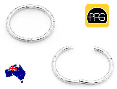New Solid 925 Sterling Silver Faceted Sleepers Hinged Hoop All Day Earrings