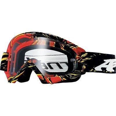 Arnette Mini Series Explosive Youth MX Goggles - Red Yellow, Clear Lens, New