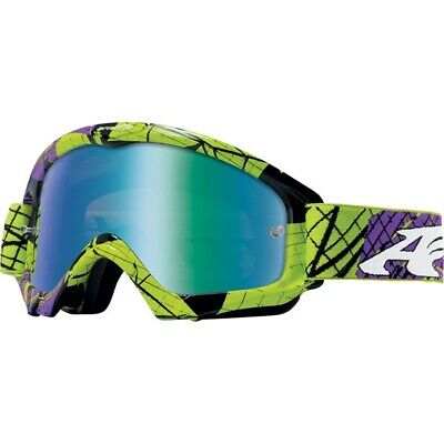 Arnette Mini Series Fragment Youth MX Goggles - Green Purple, Clear Lens, New