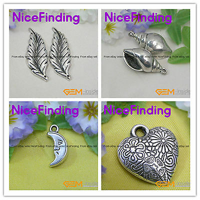 Antique Silver Plated Acrylic CCB  Beads Jewelry Making Findings  Pendants  DIY