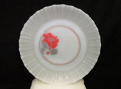 """Termocrisa Milk Glass  Entree Plate, floral pattern (8 5/8"""")  4 plates available"""