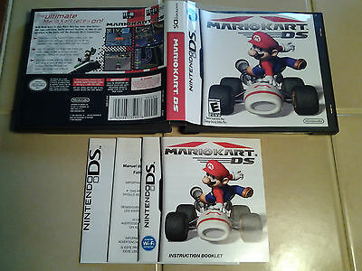 Nintendo DS Replacement Box (Case) and Manual Only for Mario Kart, NO GAME