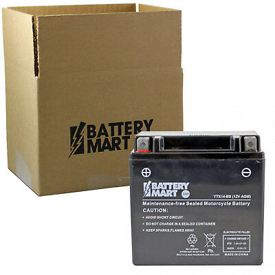 YTX14-BS AGM Maintenance Free Battery [YTX14-BS]