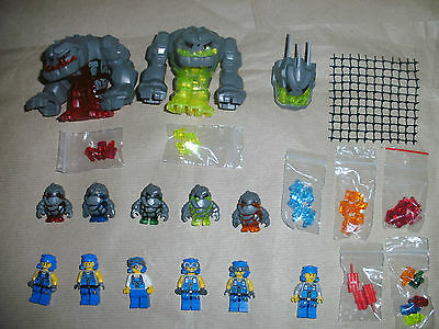 Used Lego Power Miners Minifigs Rock Monster Power Crystals Accessories Spares