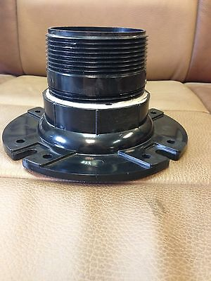 "NEW RV CAMPER MOTORHOME BUS 4"" X 3"" TOILET COMMODE FLANGE MOUNT MALE / FEMALE"