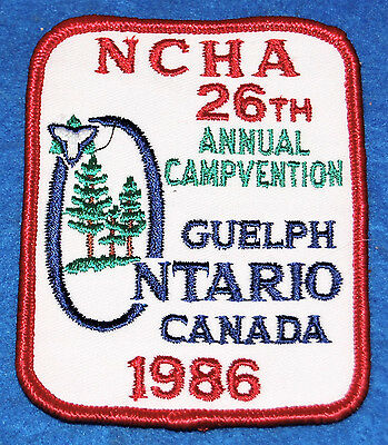 NCHA 26th Annual Campvention Guelph Ontario Canada 1996 Embroidered Patch