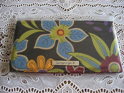 NEW Longaberger Bliss Fabric Duplicate Checkbook Cover - NIOB