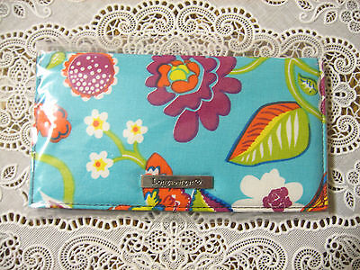 NEW Longaberger Summer Lovin' Floral Fabric Duplicate Checkbook Cover NWT