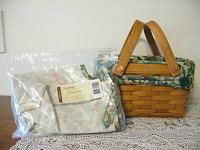NEW Longaberger American Holly Fabric Liner 4 Your Little Market Basket - USA