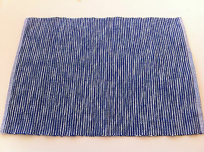 Navy Blue and White Zen Rib Placemat - 33 x 48cm