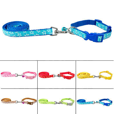 Nylon Pet Dog Collar and Lead Leash Set with Bell Cute For Small Dogs Chihuahua