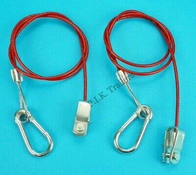 2 x Breakaway Cable CLEVIS PIN fitting Ifor Williams Trailers    #RB21