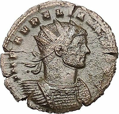 AURELIAN shaking hands with Concordia Harmony  Cult  Ancient Roman Coin i40723