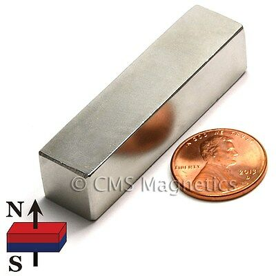 "Neodymium Magnets N45 2"" x 1/2"" x 1/2"" NdFeB Magnets Super Strong 16 PC"