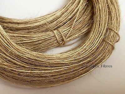 100m 1Ply Thin Natural Brown Jute Hessian Burlap Shabby Rustic String Twine