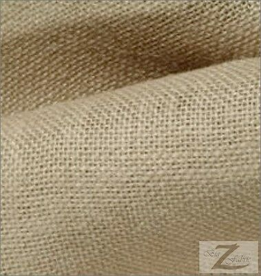 "40"" WIDE NATURAL BURLAP FABRIC SOLD BY THE YARD 10oz"