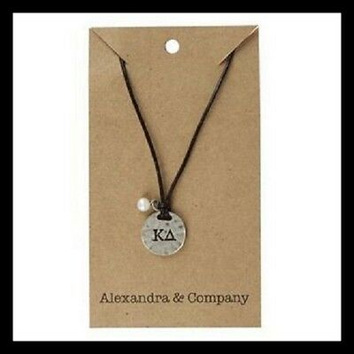 Kappa Delta Sorority Stamped Charm Necklace big Lil Gift