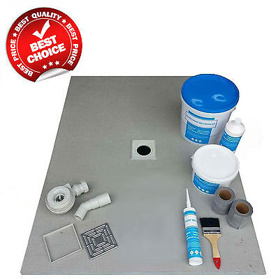 Wet Room Wetroom Shower Tray Kit 1200 x 900 mm Walk in shower tray (B)