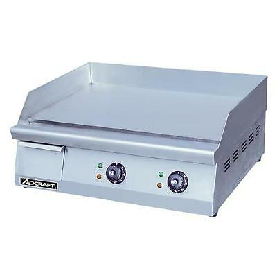 """AdCraft GRID-24 24"""" Countertop Electric Griddle - Flat Top Grill"""
