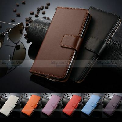 Genuine Real Leather Wallet Flip Case Cover For Apple Iphone 4s 4