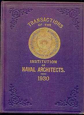 Transactions of the Institute of Naval Architects 1930