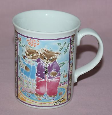 Otagiri Cat Mug Edith Collection Man Woman Hugging