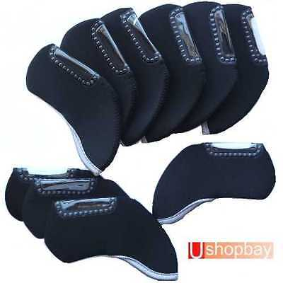10 X Iron Covers Suit Callaway Taylormade Titleist Mizuno Clubs BN For Golf Bag