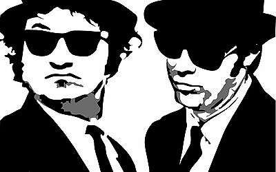 Blues Brothers Home Decor Canvas Print, choose your size.