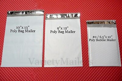26 Poly Bag + 15 Poly Bubble Padded Envelope Mailers ~ Mixed Lot of 3 Sizes ~