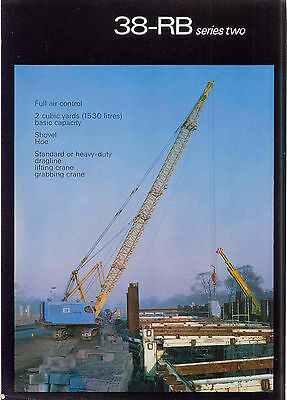 Ruston Bucyrus 38-RB series two brochure with colour photo on front