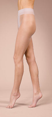 Ultra Sheer 10 Denier Tights Lace Top Hold Ups Sandal Toe Naturals Medium Large