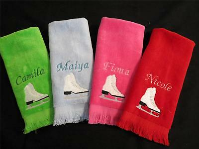 Personalized Ice Skate /Figure Skate Blade Towel with Grommet - Many Colors