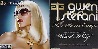 GWEN STEFANI The Sweet Escape PROMO TwoSided Poster NO DOUBT Wind It Up RARE New