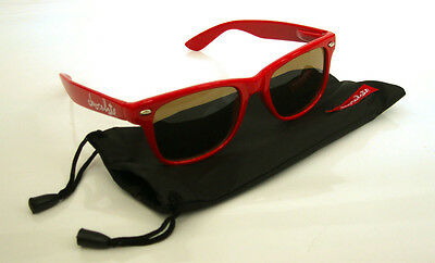 Chocolate Skateboards Red Chunk Shades / Sunglasses with Pouch - Brand New