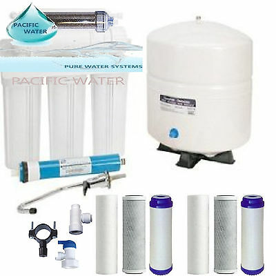 PACIFIC Dual Outlet Reverse Osmosis Water System 150 GPD RO/DI EXTRA FILTER SET