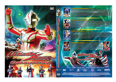Ultraman Mebius 5in1 Movie Collection Box ~ 4-DVD ~ (Ghost Reverse) ~ Eng Dub
